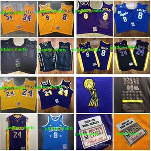 2020 yeni Otantik Mitchell Ness Los AngelesLakersKobeBryant60th824nba swingman Basketbol Formalar