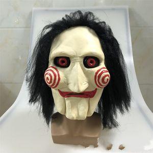 Korku Maskeleri Cadılar Bayramı Şapkalar Terör Makyaj Cosplay Elektrikli A Peruk Film Teması Facemask Fabrikası 20qs p1 ile Korkmuş Maske Testere
