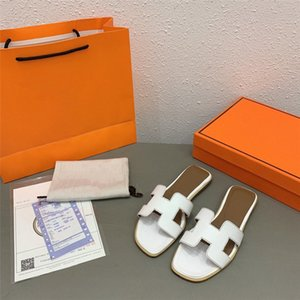 Hermes sandals Women's shoes 2020 nuovi pistoni di sandali scarpe piane di cuoio reali pantofole migliori pantofole di qualità sandali scarpe casual Abbigliamento donna