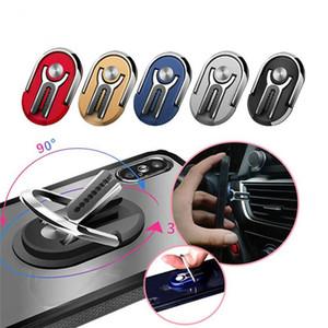 Car Mount Air Vent Grip Multipurpose 2 en 1 Mobile Phone Holder 360 degrés de rotation Anneau support orientable doigt magnétique Téléphone Porte-support