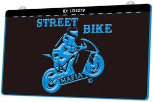LD4279 Street Bike Mafia Мотоцикл Новый 3D гравировальные светодиодные Вход Настройка по требованию многоцветность