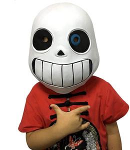Sans Cosplay Latex Maske Ganzkopfhaube Masque Halloween Kid Cosplay Zubehör Halloween Weihnachten Props JK1909XB