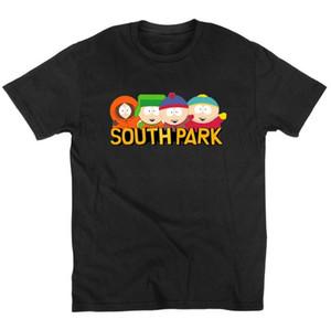 Yaz Tarzı Moda Pamuk Desen T Gömlek Erkek Giyim Karikatür Sitcoms Güney Parkı Kısa Kollu Top Tees Ile Euro Boyutu Tshirt Y19050701