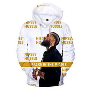 Nipsey Hussle New Hoodies Dos Homens 3D Impresso RIP Tops Mens Sweatshirts LilPeep EUA Rapper Mens Causal Roupas