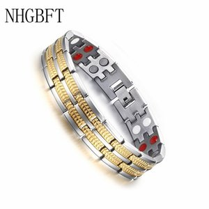 NHGBFT Magnetic healthy care bracelet mens infrared germanium negative ions bracelet bangle