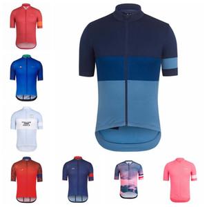 Novo 2019 RAPHA Ciclismo Curto Respirável Mangas jersey homens verão Esportes Ao Ar Livre Top de Secagem Rápida Desgaste sportshirt K071305