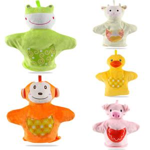 Симпатичные куклы Обезьяна Свинья Лягушка Sheep Duck Family Finger Puppets Baby Дети развития Притворись Плюшевые игрушки ручной