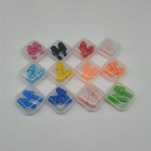 Tapones para los oídos de silicona Nadadores Tapones para los oídos suaves y flexibles para viajar Dormir Reducir el ruido Tapón del cuidado de los oídos 2pcs / set RRA1096