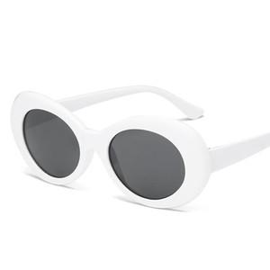 MISM Moda Geek Gafas de sol retro 90S de la vendimia de las lentes Oval Gafas Espejo Hombres Accesorios Hippie Gafas de sol Mujer UV400