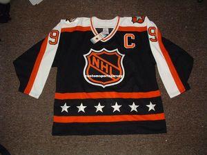 Cheap custom WAYNE GRETZKY 1990 ALL STAR GAME HOCKEY JERSEYS Mens Personalized stitching jerseys