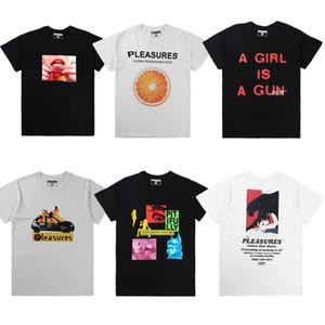 2019 PLAISIRS T-shirt Wen 1: 1 de haute qualité d'été de style Pleasures T-shirts Top tees Hip Hop PLAISIRS coton T-shirt Y200409