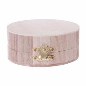 Wooden Crafts Storage Box Jewelry Organizer Wood Base Case Art Design Decor Kids DIY Toys Drop shipping