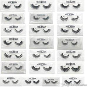 new 3D False Eyelashes 22 Styles Handmade Beauty Thick Long Soft Lashes Fake Eye Lashes Eyelash Gift Box Package 20190412ayq