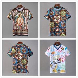 2020 роскошные Мужские футболки мода черепа t-рубашка повседневная Slim с коротким рукавом футболки летние топы Медузы Марка дизайн прохладный футболки человек тройник