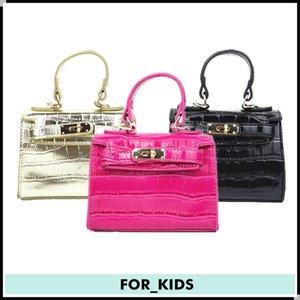 New Designer Handbag For Kid tote bag Fashion Kids Messenger Bags Children's Purses Girl Mini Summer Shoulder Bags Black Pink Red Gold FK001