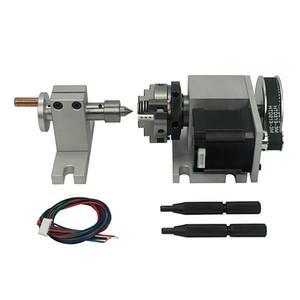 CNC rotatoria del eje de plato actividad 80mm contrapunto Contrapunto y Rotary de un eje, cuarto eje de la máquina fresadora CNC