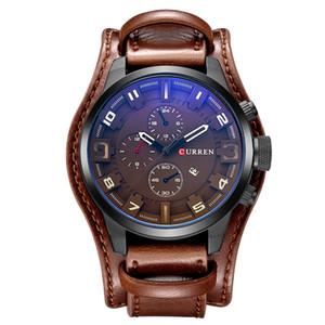 Relogio masculino relojes para hombre de primeras marcas de lujo correa de cuero impermeable hombres deporte reloj de cuarzo militar masculino reloj Curren 8225 Y19051703