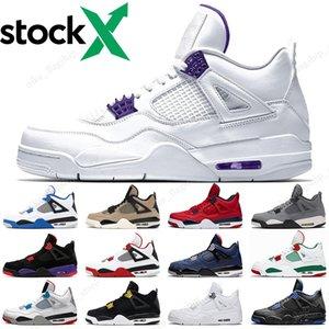 2020 Viola Black Metallic Cat scarpe 4 4s uomini di pallacanestro cemento bianco Wild West fuoco progettista rosso sneakers IV Pure mens denaro formatori