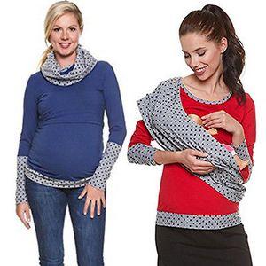 Fashion Langarm Frauen Umstandsmode Stillen Shirts Nursing Top