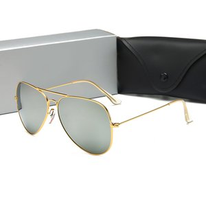 2020 New Fashion Sunglasses Vintage Pilot Sun Glasses ray Polarized UV400 ban Men Women sunglasses brandDesigner