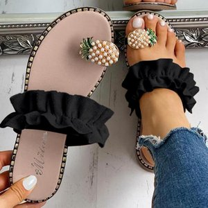 5 Colors Slippers Women Girls Pearl Flat Bohemian Style Casual Sandals Slippers 2020 Summer Beach Shoes Zapatos De Mujer