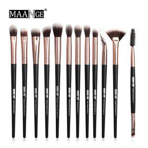 MAANGE Make-up Pinsel Set Professionelle 12 teile / los Make-up Pinsel Set Lidschatten Blending Eyeliner Wimpern Augenbrauen Pinsel Für Make-up-Tool