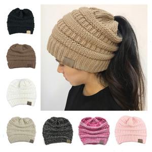Mujeres de punto gorros de invierno sombrero 10 colores de moda caliente de punto sombreros al aire libre Casual Slouchy Gorros de ganchillo Caps regalo de Navidad