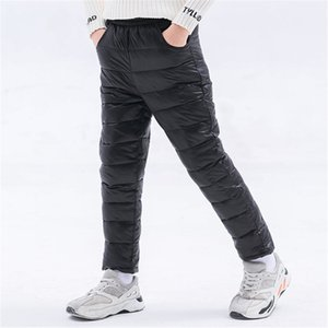 Winter Children Down Cotton Padded Pants Baby Boys Girls Clothing Solid Ski Windproof Warm Trouser Kids Snow Pant Teen Leggings Y200704
