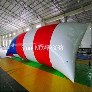 Kostenloser Versand 5x2m aufblasbares Trampolin im Freien aufblasbaren Wasser Blob Jump Kissen Wasser Blob Jumping Bag For Sale