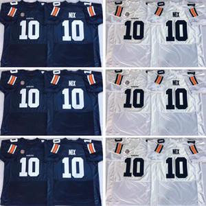 Cheap Bordado Auburn 10 Bo Nix 24 Daniel Thomas 9 Kam Martin 8 Jarrett Stidham 2 Newton 34 Bo Jackson Colégio costurado azul branco Jerseys