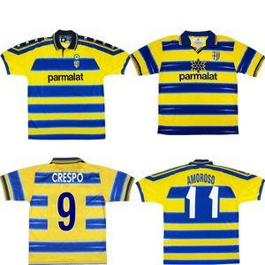 1998 1999 2000 Parma CRESPO fútbol Jersey retro 98 99 SPAGNOLO Gervinho KARAMOH camiseta de fútbol AMOROSO F.CANNAVARO THURAM antigua maillot