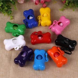 Pet Çöp Temiz Saklama Kutusu Plastik Kemik Tipi Taşıyıcı Temizleme Kutu Pet Köpek LJJP26 Malzemeleri Up Atık Poop Çanta Köpek Çöp seç