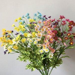 30 capi / ramo artificiale Dasiy fiore di seta Fake Flowers Bouquet decorativo piccola margherita per la casa in camera Decoratiuons