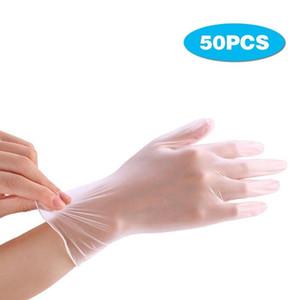 50PCS Grado monouso Guanti in vinile trasparente anti-statica guanti di plastica per la pulizia Cucinare Ristorante Cucina monouso Accessori