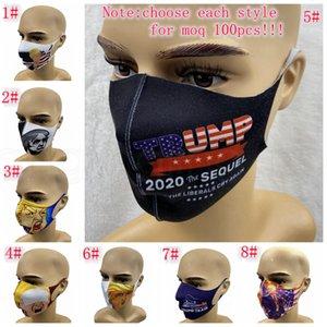 트럼프 얼굴 마스크 유니버설의 경우 남성과 여성 FFA3985-1 마스크 인쇄 방진 얼굴 마스크를 미국의 선거 공급 earloop