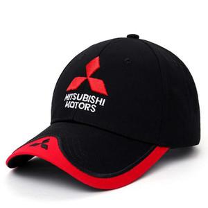Novo logotipo 3D Mitsubishi chapéu carro tampas Motogp Moto Racing F1 boné de beisebol das mulheres dos homens ajustável Casual Trucker Hat atacado varejo
