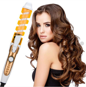 Professional Electric Hair Curler Curling Irons Roller Pro Colorful Spiral Fast Heating Wall Hanger Diameter 19mm 35W 220V 110V