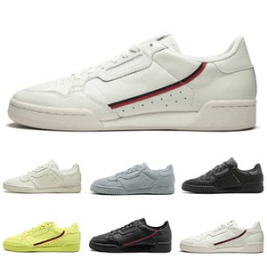 2019 Calabasas Powerphase White Continental 80 Casual shoes Kanye West Pure Core black OG white Men women Trainer Sports Sneakers