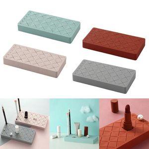 18-Grid Silicone Lipstick Storage Rack Cosmetics Storage Box Multi-grid Innovative Display Stand Makeup Holder Home Organizer