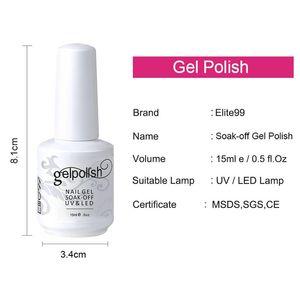 Elite99 15 ml Soak Off UV Gel Unha Polonês Semi Permanente Gel Verniz Verniz Design de Moda Nail Art Manicure Gelpolish 5 pçs / saco