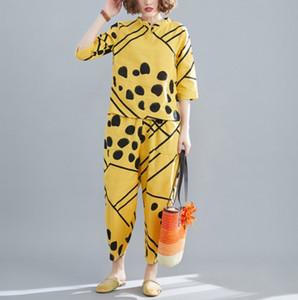 Polka Dot Two Piece Set Top Survêtements en vrac Vêtemens femmes Set Casual Femmes Survêtement Femmes Costume d'été