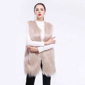 2018 nuevo chaleco de piel sintética de invierno las mujeres de moda de lana lavada cordero flotante chalecos de talla grande