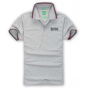 Hombres jefes de verano para hombre de los diseñadores de moda Polos Hogo Impreso tela escocesa del remiendo camisetas de manga corta de dibujos animados camisetas ropa del asunto