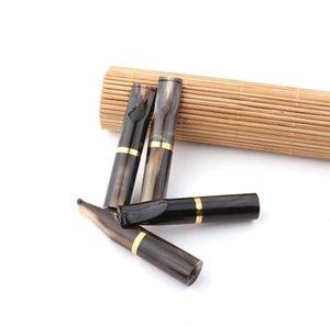 Çekirdek değişen korna sigara memesi siyah değiştirilebilir aktif karbon filtre çekirdek sigara memesi