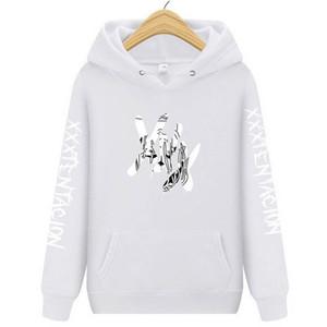 Xxxtentacion Homens Hoodies Design Engraçado Impressão de Lã Camisolas de Inverno Unisex Hip Hop Ganhos Camisolas Hoodies New Lil Peep