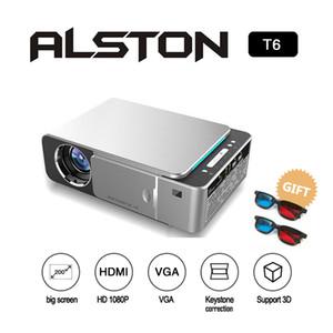 ALSTON T6 Proiettore LED HD 3500 Lumens Supporto HDMI USB portatile 4K 1080p Home Theater Cinema Proiettore Beamer