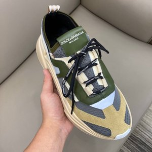 Fashion Leather Suede Stud rockrunner camouflage Sneakers Shoes Men Women Flats Luxury Designer Rivet Rockrunner Trainers Casual Shoes RD352