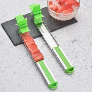 Gadgets de cocina sandía Slicer Cortador de acero inoxidable molino de viento Fruta de la sandía cuchillo de corte del molino de viento Melon Slicer Cortador VF1516 T03