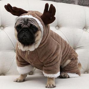 Chaud Toison Pet Dog Automne Hiver Vêtements pour petits chiens Chien de Noël Costume Jumpsuit chiot Manteau Veste Chihuahua Pug Vêtements