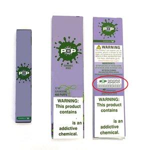 15 цветов POP Disposables устройств стручок с кодом безопасности Kit 280mAh Батарея батарея 1,2 мл картридж Vape Pen Puffbar VS Pop XTRA Puff плюс
